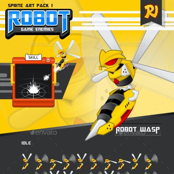 Robot Game Enemies Sprite Art Pack 1