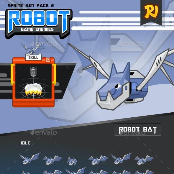 Robot Game Enemies Sprite Art Pack 2