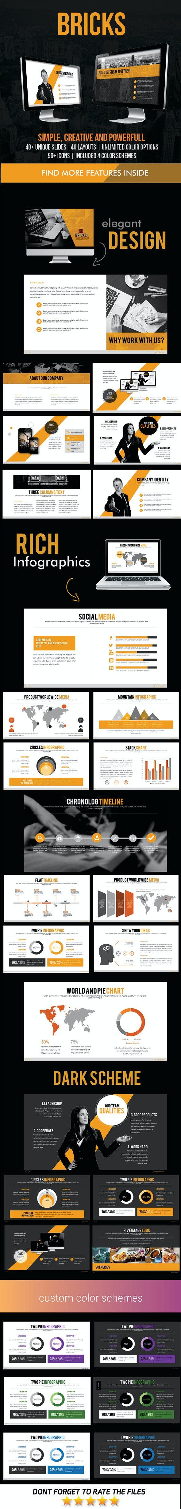 Bricks PowerPoint Template - Business PowerPoint Templates