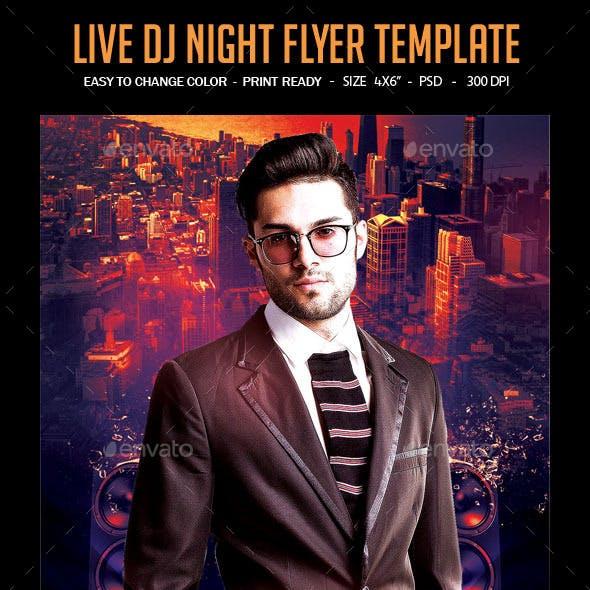 Live Dj Night Flyer Template