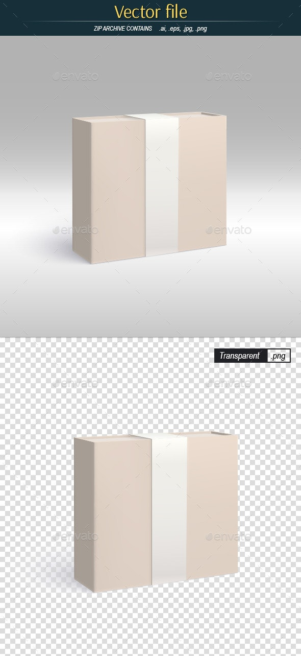 Gift Packaging Template of Product Design - Man-made Objects Objects