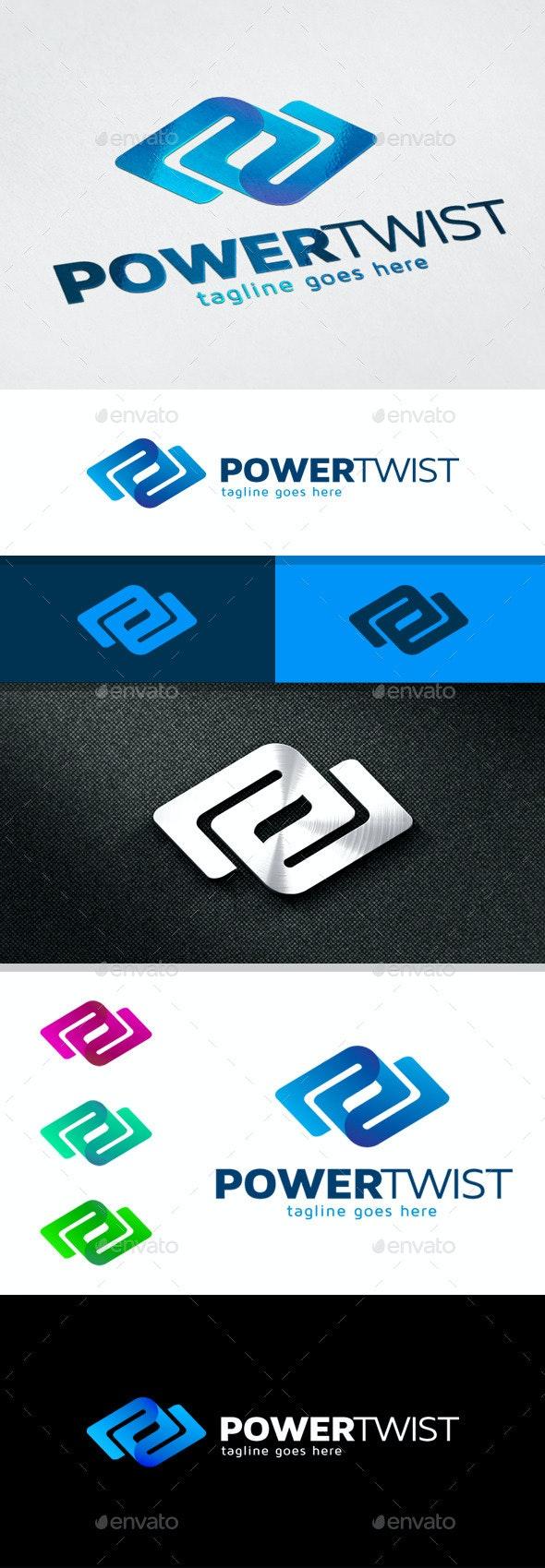 Power Twist - Letter P Logo