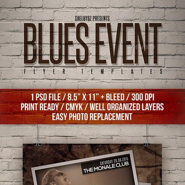 Blues Event Flyer Templates