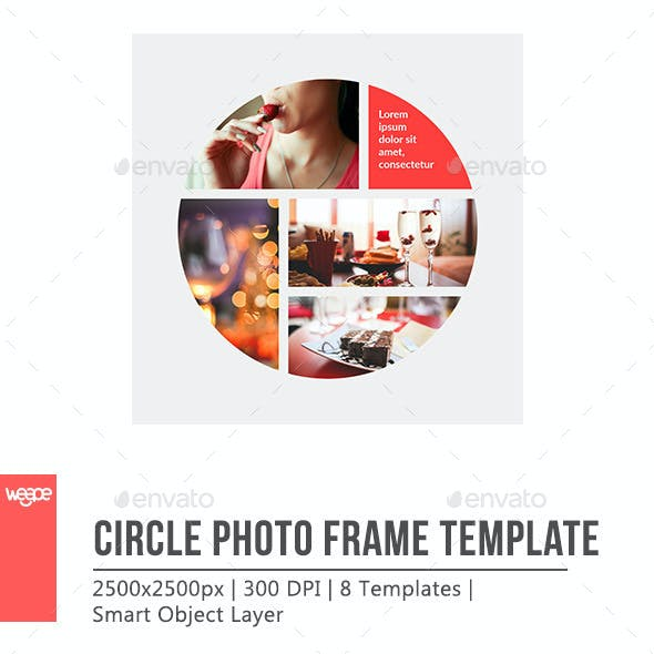 Circle Photo Frame Template