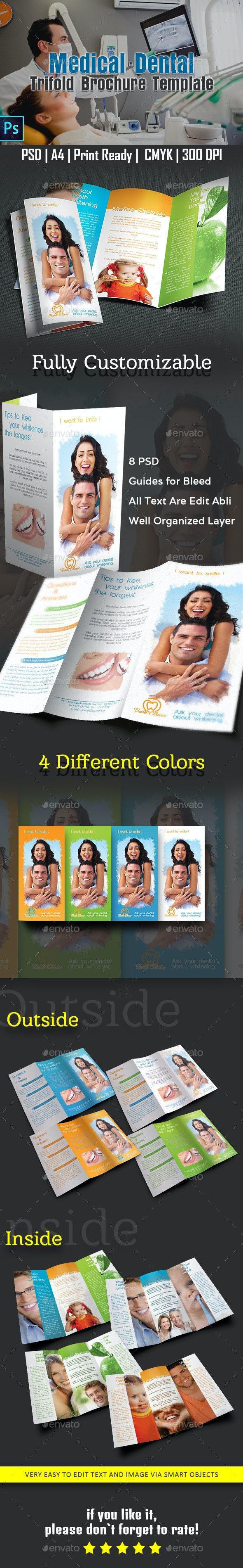 Medical Dental Trifold Brochure Template - Corporate Brochures