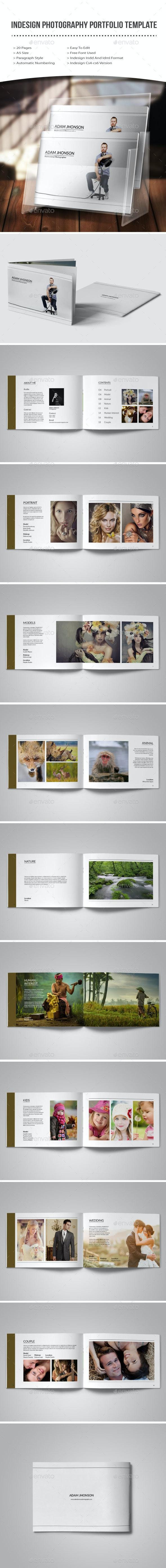 Indesign photography portfolio template - Photo Albums Print Templates