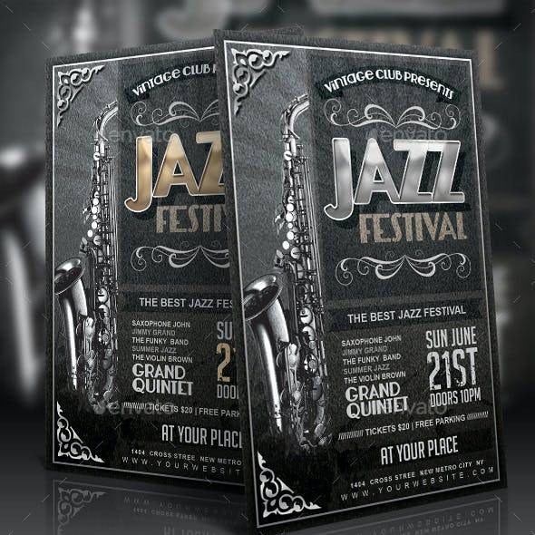 Vintage Jazz Festival Flyer