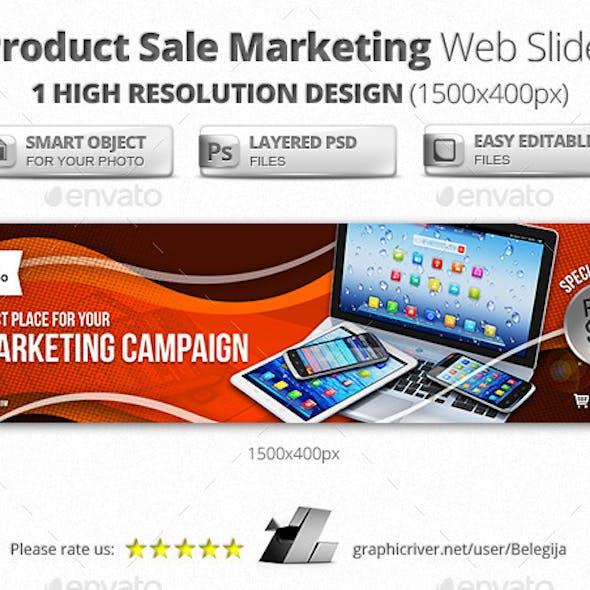 Product Sale Marketing Web Sliders