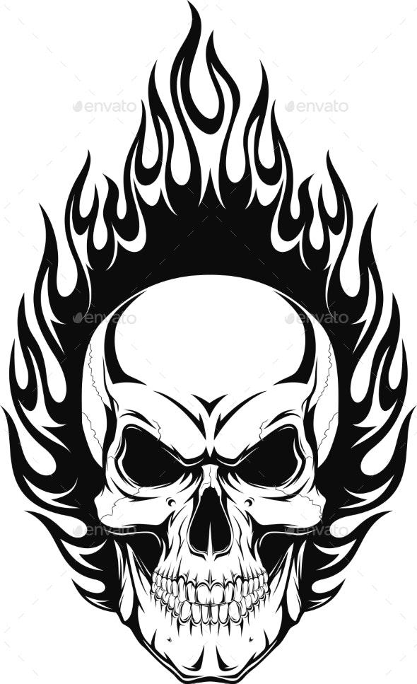 Human Skull - Tattoos Vectors