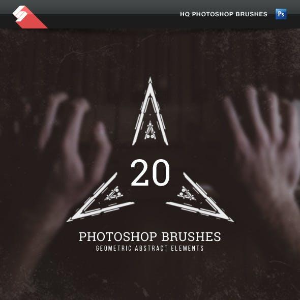Geometric Abstract Elements - Photoshop Brushes