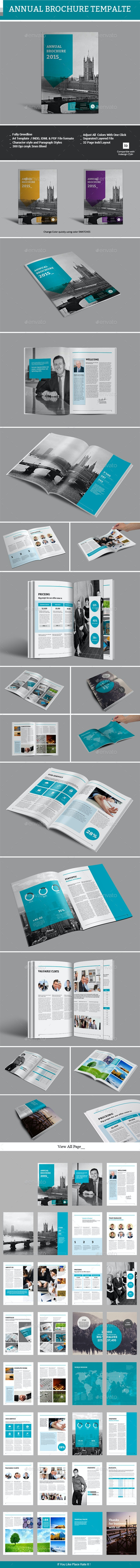 Annual Brochure Template - Informational Brochures