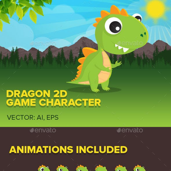 Dragon 2D game character