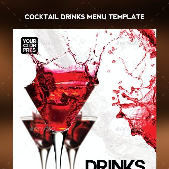 Cocktail Drinks Menu