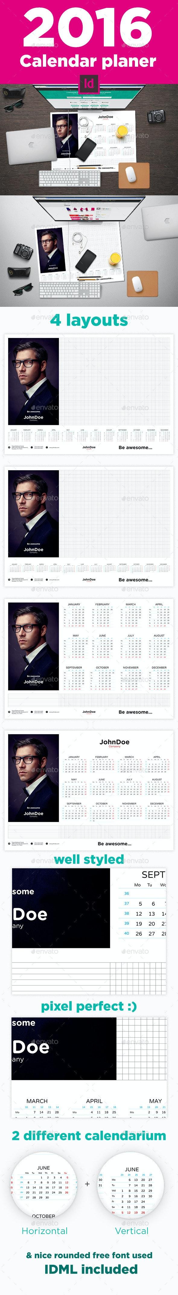 2016 Calendar Planer - Calendars Stationery