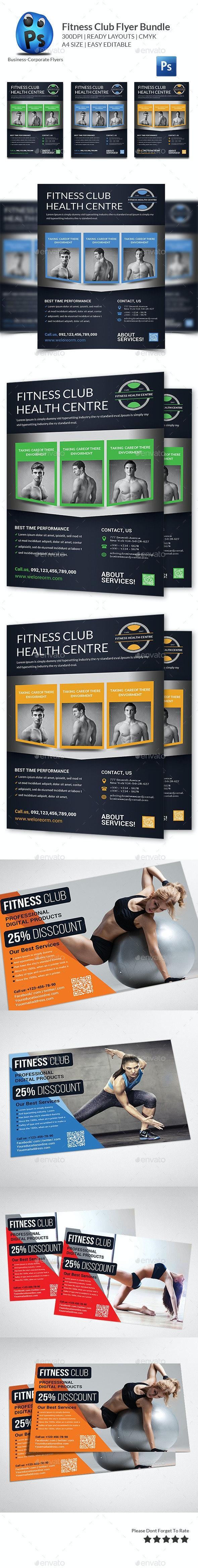 Health, Sports, Fitness Flyer Bundle - Corporate Flyers