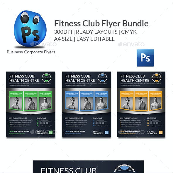 Health, Sports, Fitness Flyer Bundle