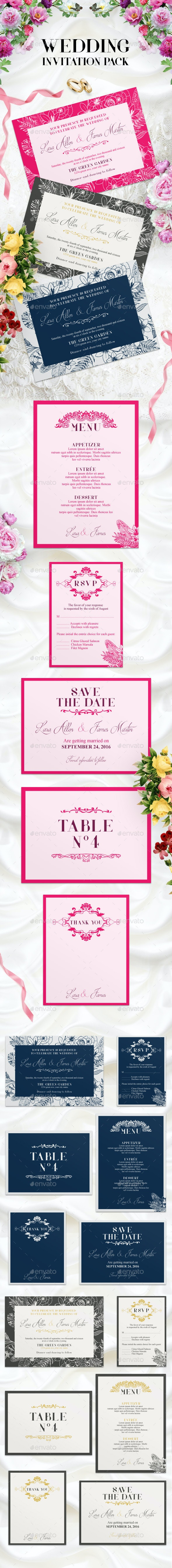 Wedding Invitation Pack - Weddings Cards & Invites