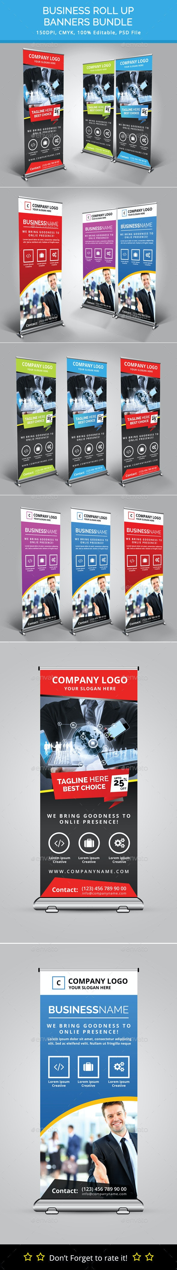 Bundle of 2 Rollup Banners