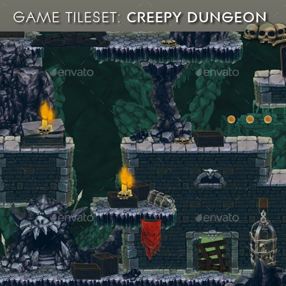 Creepy Dungeon - Platform Tileset