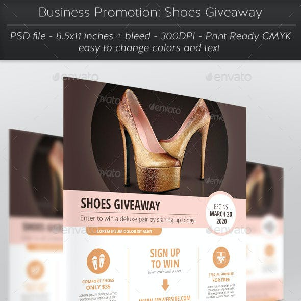 Business Promotion: Shoes Giveaway