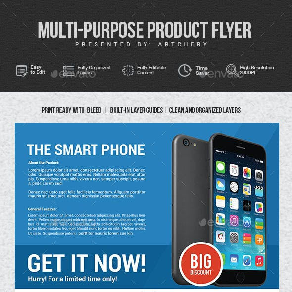 Multiporpuse Product Flyer
