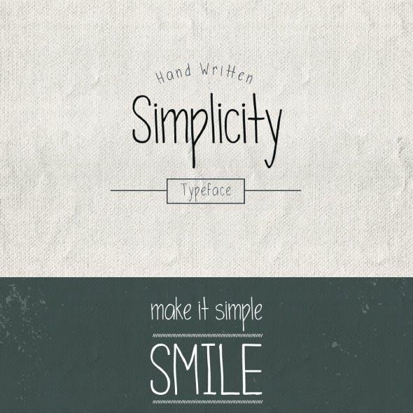 Simplicity Typeface