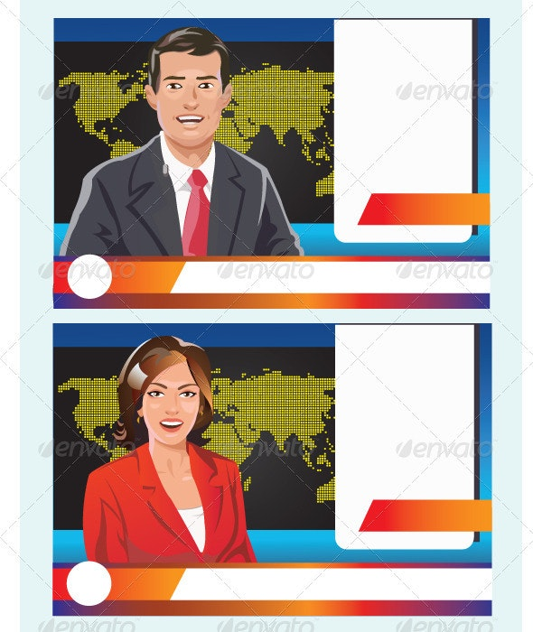 News Reporter - People Characters