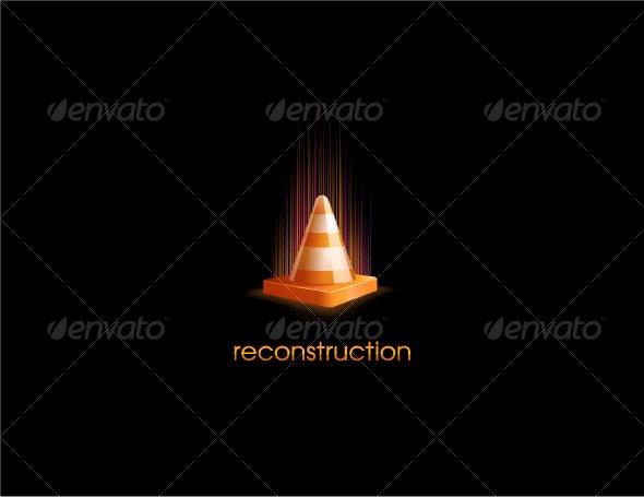 Orange Cone - Objects Vectors