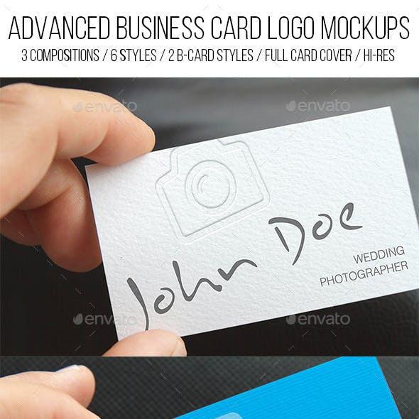 Advanced Business Card Logo Mockups
