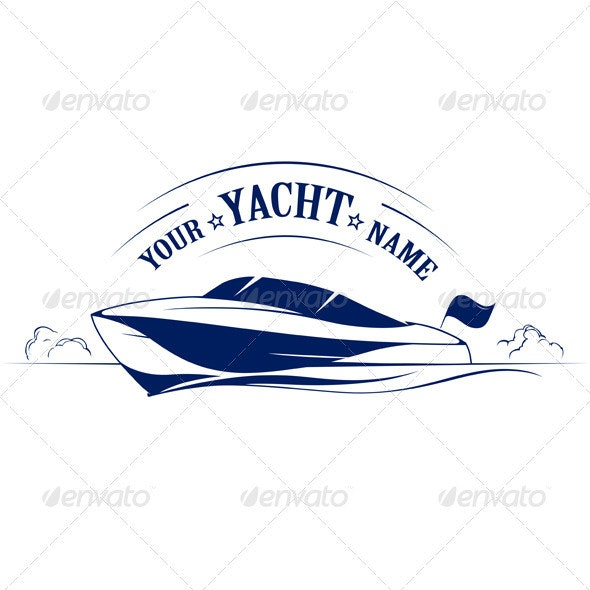 Speed Boat Yacht Icon - Travel Conceptual