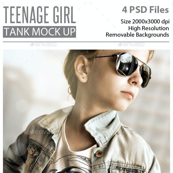 Teenage Girl Tank Mock Up