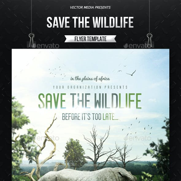 Save The Wildlife - Flyer