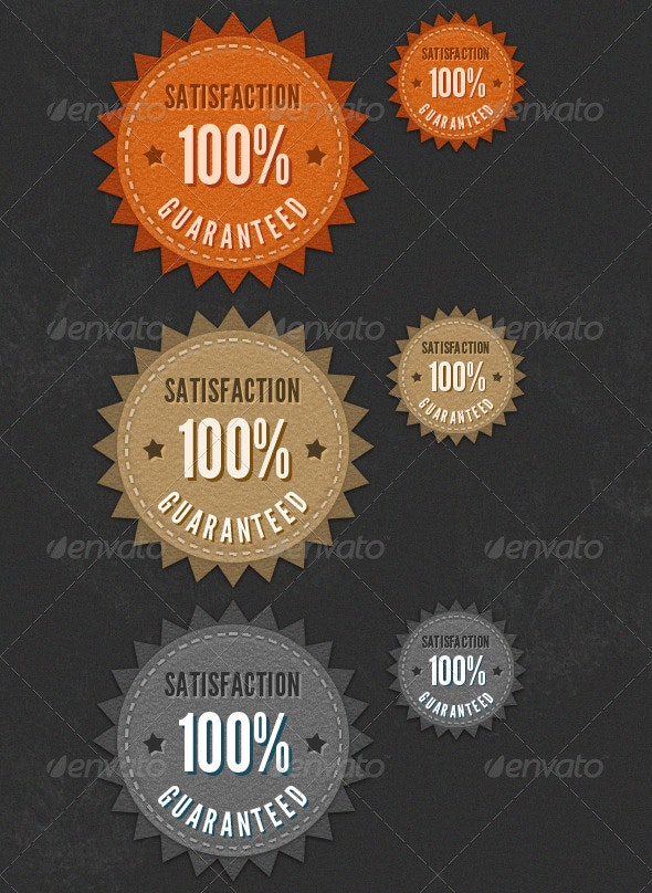 Satisfaction Guaranteed Seals - Miscellaneous Web Elements