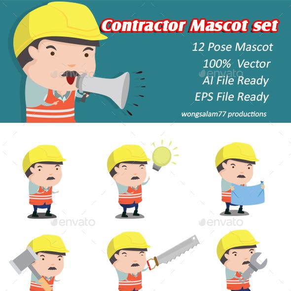 Contractor Mascot Set