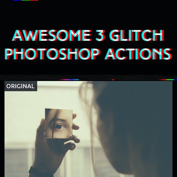 3 Glitch Photoshop Action