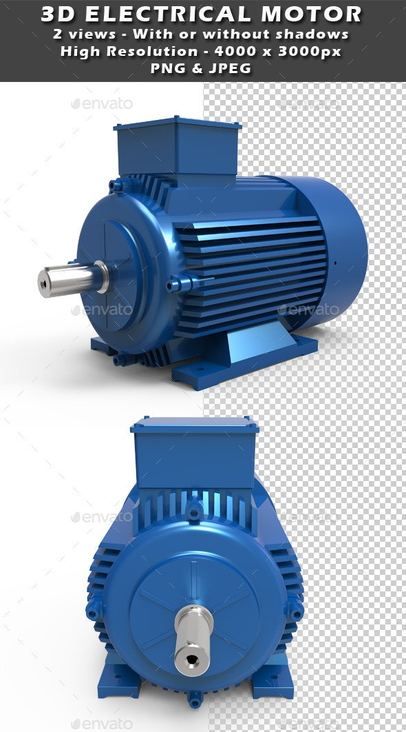 3D electrical motor - Technology 3D Renders