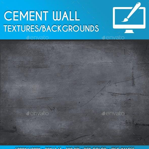 Asphalt Cement Wall Backgrounds/Textures