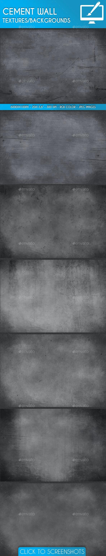Asphalt Cement Wall Backgrounds/Textures - Industrial / Grunge Textures