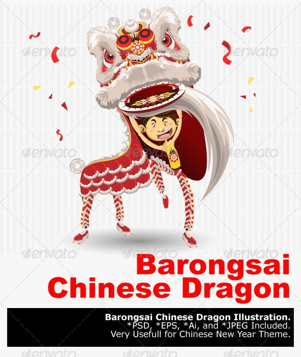 Chinese Lion Dancing - New Year Seasons/Holidays