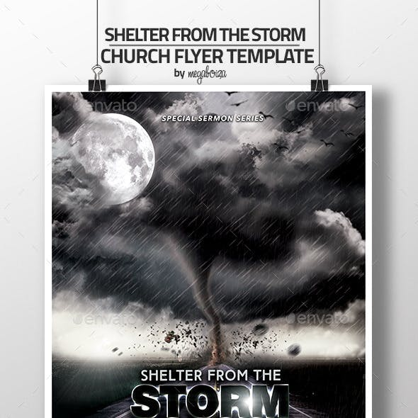 Shelter From The Storm Church Flyer/Program