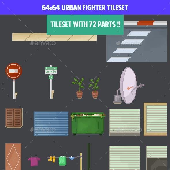 64x64 urban fighter tilseset