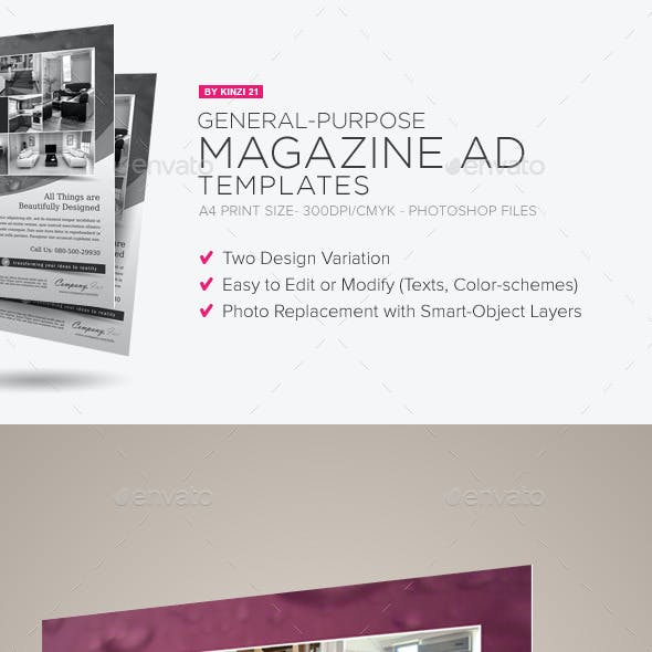 General Purpose Magazine Ad Template #02