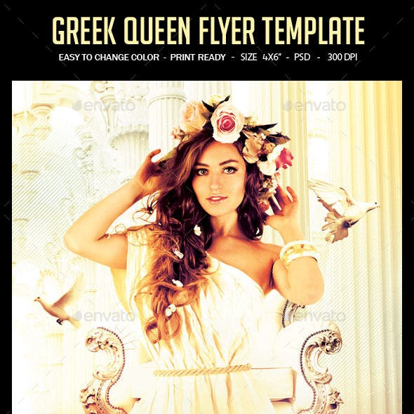 Greek Queen Flyer Template