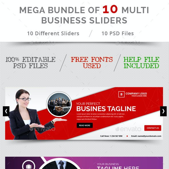 Bundle of 10 Business Sliders