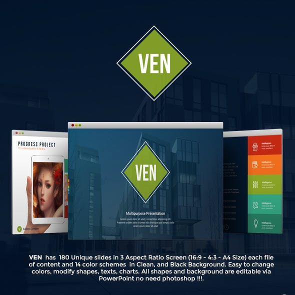 Ven - Complete Powerpoint Template