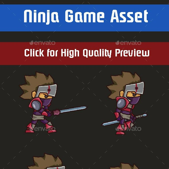 Shadow Ninja Sprite Sheet