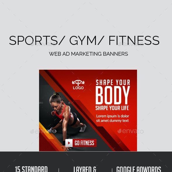 Fitness Ad Banners
