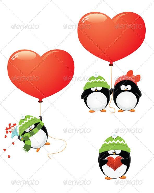 Penguin Love Set - Animals Characters