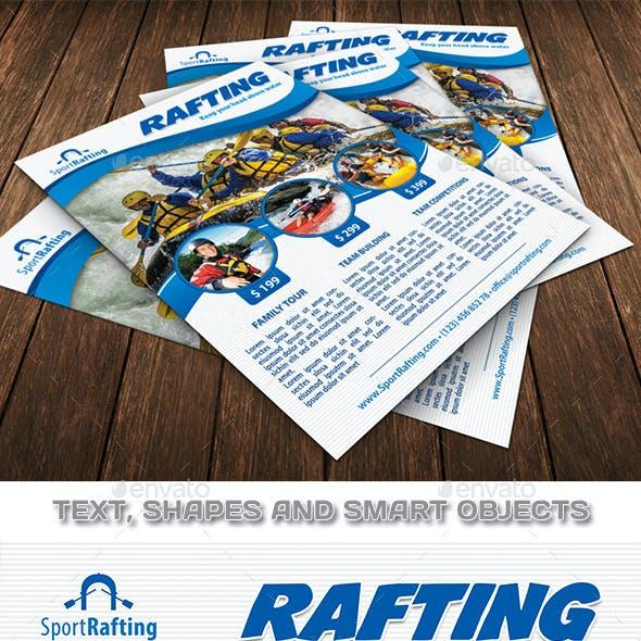 Rafting Sport Club Flyer Template 97