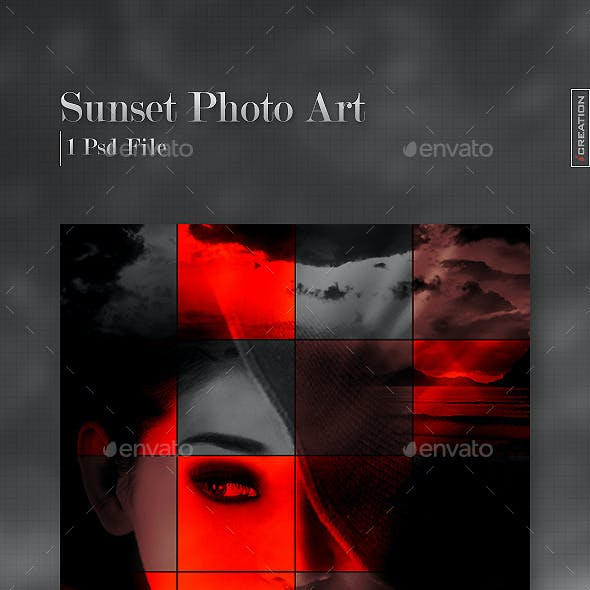 Sunset Photo Art